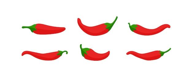 Острый перец чили красный. дизайн для еды, кулинарии, приправ и упаковки специй.