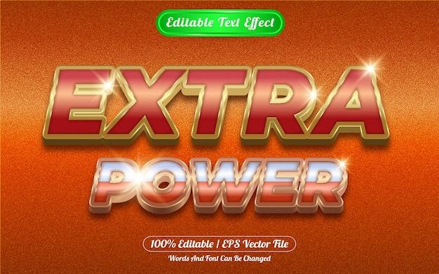 Extra power editable text effect golden themed
