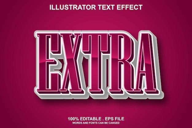 Дополнительный текстовый эффект редактируемый