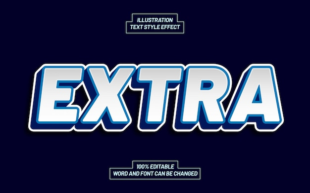 Extra text style effect