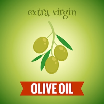 Extra virgin olive oil illustration