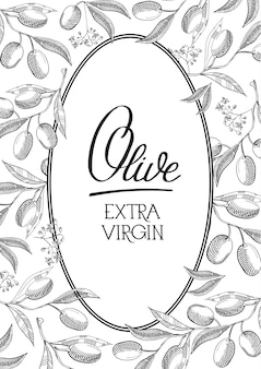 Этикетка extra virgin olive oval