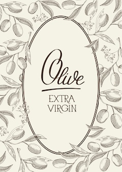 Extra virgin olive vintage label