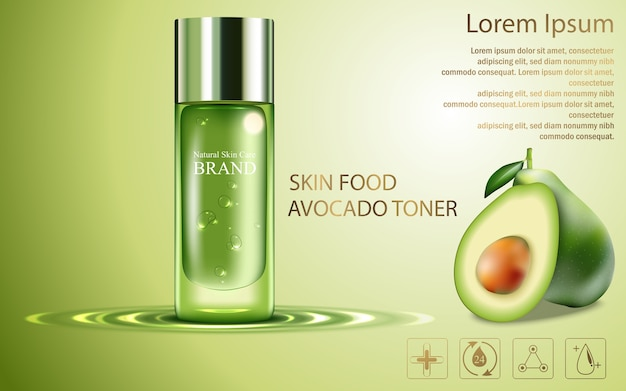 Extract avocado skin care cream