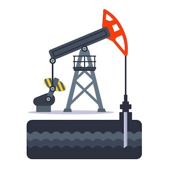 석유 굴착 장치를 사용하여 지상에서 석유 추출