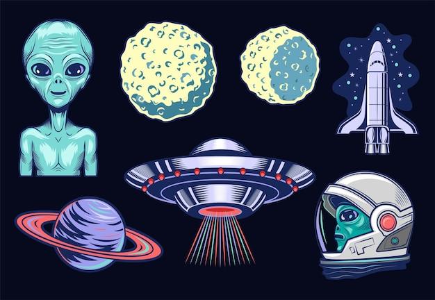 외계 생명체 세트