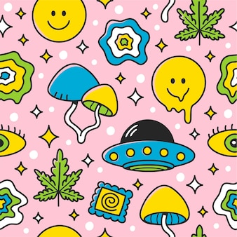 Extraterrestrial seamless pattern