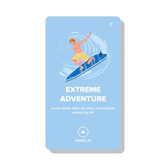 Extreme adventure and active water sport