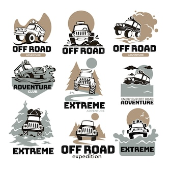 Extreme adventures and expedition, off road traveling on massive cars