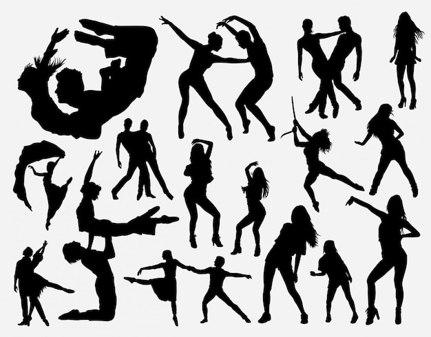 Extreme dance silhouette