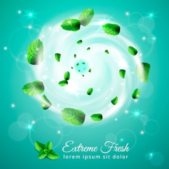 Extreme fresh swirl composition Free Vector