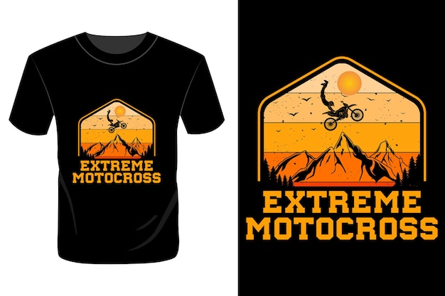 Экстремальный дизайн футболки для мотокросса винтажный ретро