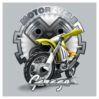 エクストリームレッドオフロードバイク Premiumベクター