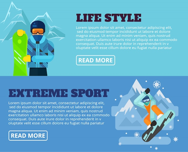 Extreme sport banner