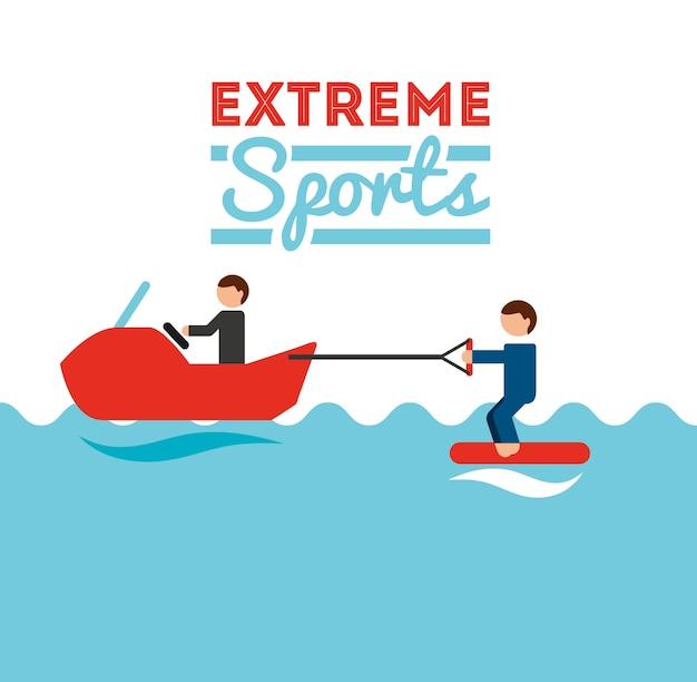 極限スポーツデザイン、ベクトルイラストeps10グラフィック
