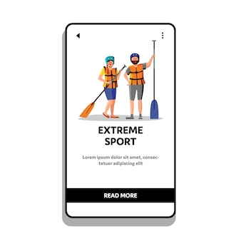 Экстремальные виды спорта, рафтинг, люди с веслом