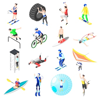 Extreme sports athletes collection