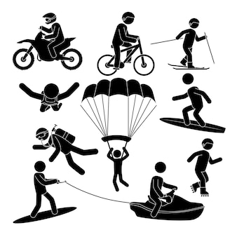 Extreme sports design.