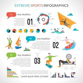 エクストリームスポーツインフォグラフィックス