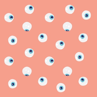 Eye balls looking at different directions pattern