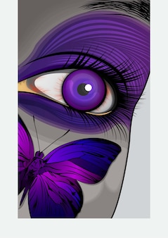 The eye of butterfly