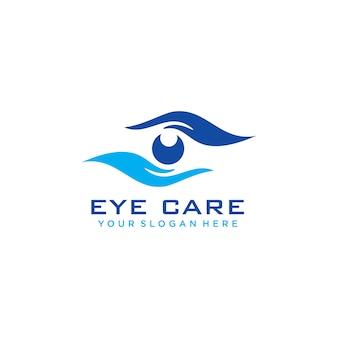 Eye care logo Premium Vector