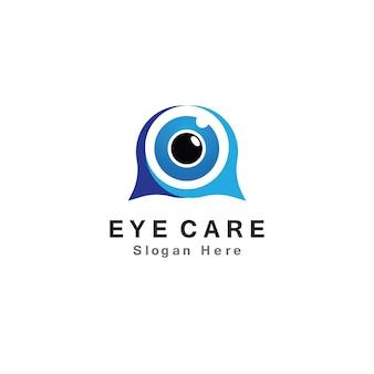 Eye care vector logo design icon