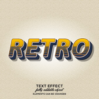 Eye catching 3d retro text style