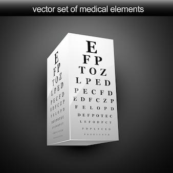 Eye chart Premium Vector