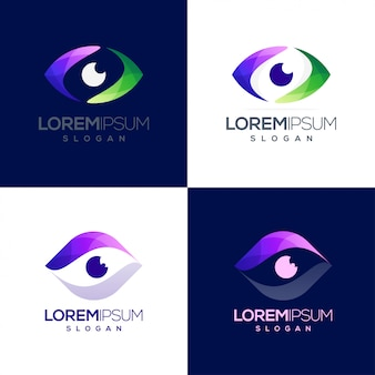 Eye colorful gradient logo