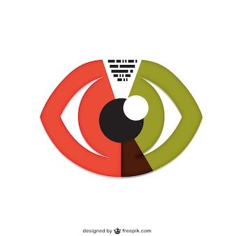 Eye conceptual vector