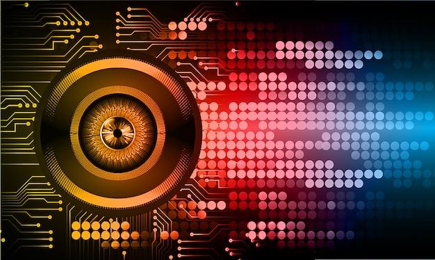 目のサイバー回路将来の技術コンセプトの背景