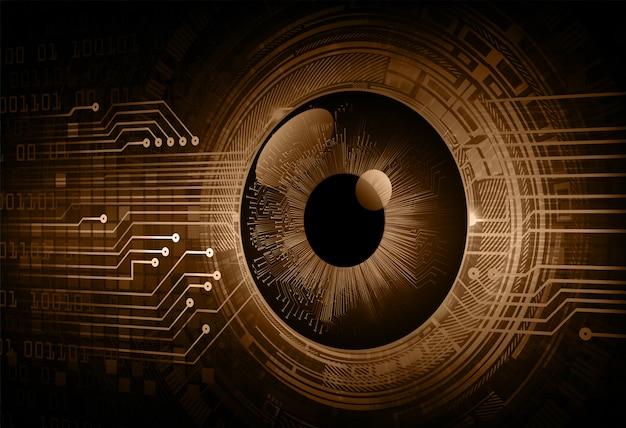 Глаз кибер схема будущего технологии концепция фон