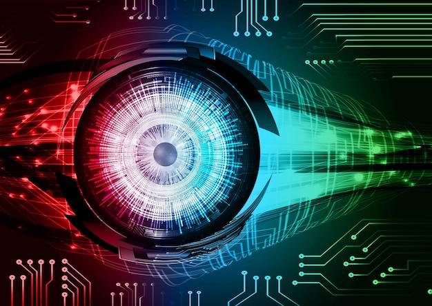 目のサイバー回路の将来の技術概念の背景