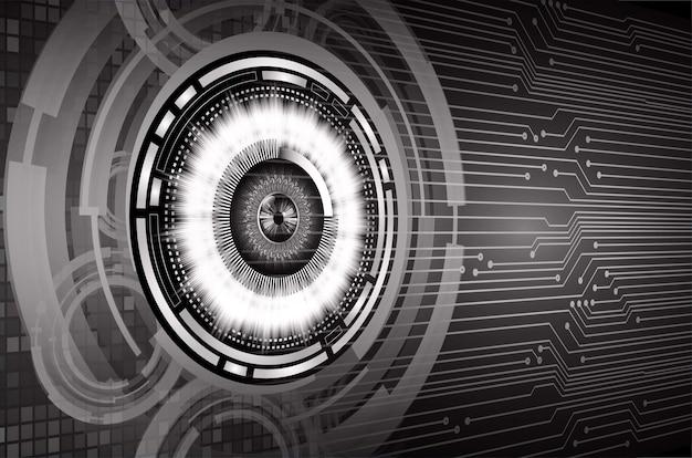 눈 사이버 회로 미래 기술 개념 배경