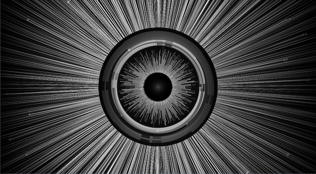 Глаз кибер цепи будущей технологии концепции фон