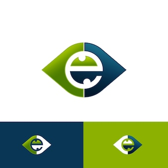 웹 그래픽 및 모바일 디자인을위한 현대 평면 스타일의 눈 아이콘 벡터