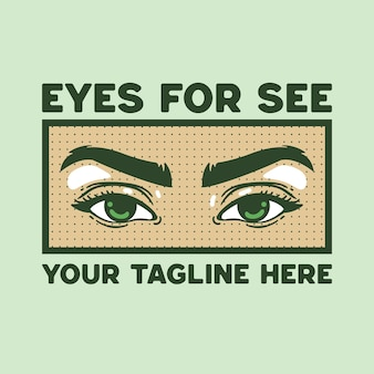 Eye illustration retro style for t-shirt