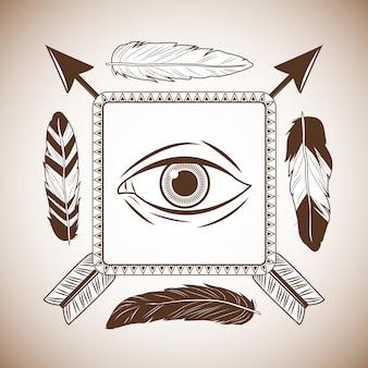 Eye inside frame icon