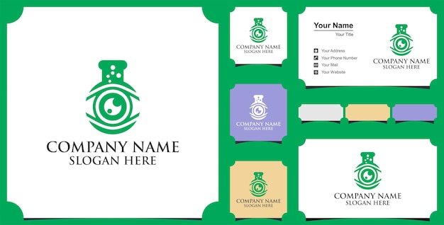 Eye lab logo and business card