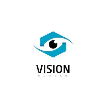 Eye logo design template