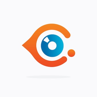 Eye logo design vector template. colorful media icon. vision concept idea.