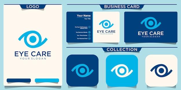 目のロゴデザインベクトルテンプレート。