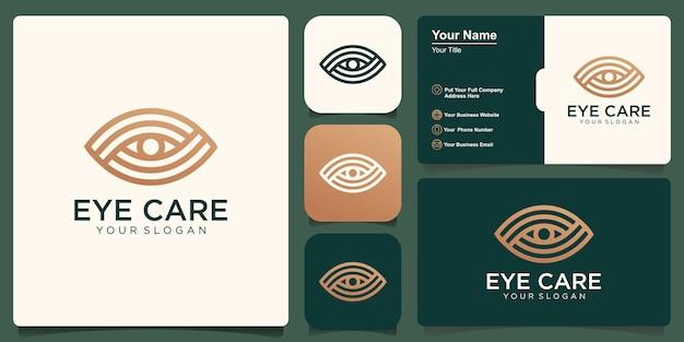 目のロゴアイコンシンボルデザイン。