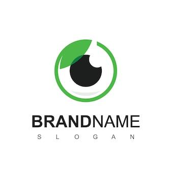 Шаблон дизайна логотипа естественного ухода за глазами