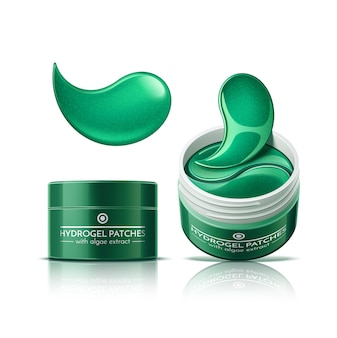 Eye patches in cosmetics jar hydrogel skin care patches
