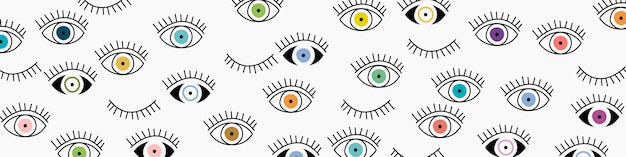 Eye seamless pattern.