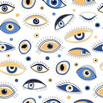 目のシームレスパターン。
