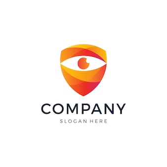 Eye shield logo design