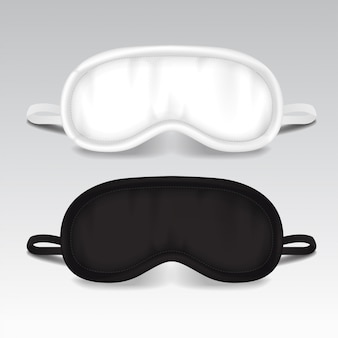 目の睡眠マスク。ベクトルイラストのモックアップ。